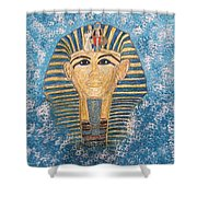 King Tutankhamun Face Mask Shower Curtain