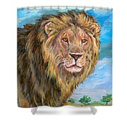 Kingdom Of The Lion Shower Curtain