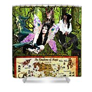 Kingdoms Of Magic Fairy Poster Shower Curtain