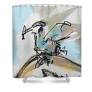 Kingfish Color  Shower Curtain