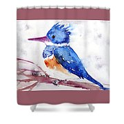 Kingfisher On A Stick Shower Curtain