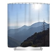 Kings Canyon Smokey Evening Vista Shower Curtain