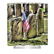 King's Chapel Cemetery  Shower Curtain