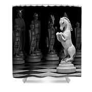 King's Court - The Valiant Knight Shower Curtain