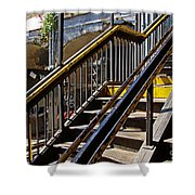 Kings Hwy Subway Station In Brooklyn Shower Curtain