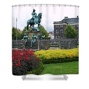Kings Square Statue Of Christian 5th Shower Curtain