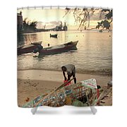 Kingston Jamaica Beach Shower Curtain