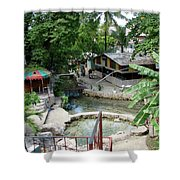 Kingston Jamaica Plaza Shower Curtain