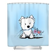 Kiniart Flower Ninja Shower Curtain