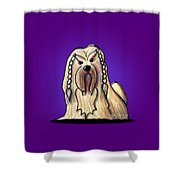 Kiniart Lhasa Apso Braided Shower Curtain