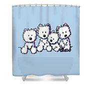 Kiniart Pocket Pawsse Shower Curtain