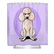 Kiniart Poodle Shower Curtain