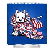 Kiniart Portrait Of Liberty Shower Curtain