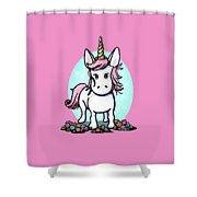 Kiniart Unicorn Sparkle Shower Curtain