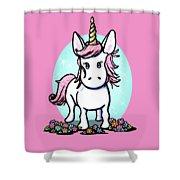 Kiniart Unicorn Sparkle Shower Curtain