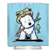 Kiniart Westie Fisherman Shower Curtain