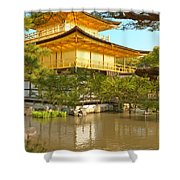 Kinkakuji Golden Pavilion Kyoto Shower Curtain