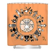 Kinky Kitty - The Kinky Mndala Shower Curtain