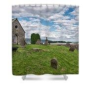 Kinross Cemetery On Loch Leven Shower Curtain