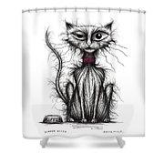 Kipper Kitty Shower Curtain