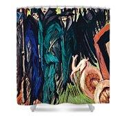 Kirchner: Street Scene Shower Curtain