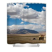 Kirgizian Jurts Shower Curtain