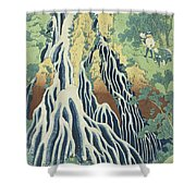 Kirifuri Falls Near Mount Kurokami In Shimotsuke Province Shower Curtain