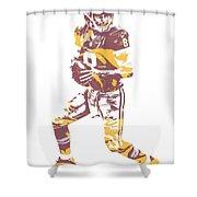 Kirk Cousins Washington Redskins Pixel Art 1 Shower Curtain