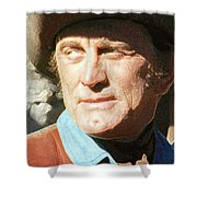 Kirk Douglas Old Tucson Arizona Number 3  In Color 1971-2008 Shower Curtain