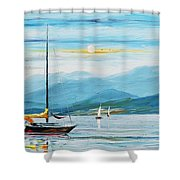 Kiss From The Sky Shower Curtain