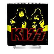 Kiss No.01 Shower Curtain by Caio Caldas