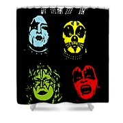 Kiss No.02 Shower Curtain by Caio Caldas