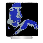 Kiss Of The Blues Shower Curtain