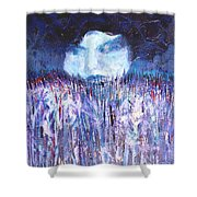 Kiss Of The Silver Moon Shower Curtain