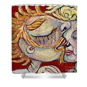 Kiss On The Nose Shower Curtain