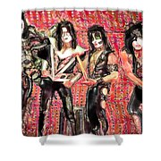 Kiss Watercolor Shower Curtain