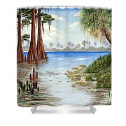 Kissimee River Shore Shower Curtain