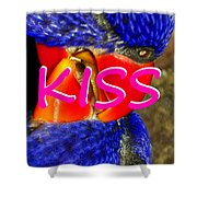 Kissing Birds Spca Shower Curtain