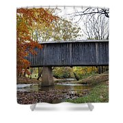 Kissing Bridge At Fall Shower Curtain