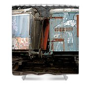 Kissing Cars Shower Curtain