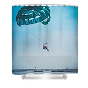 Kissing Over The Ocean Shower Curtain