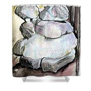 Kissing Rocks Shower Curtain by Jane Clatworthy