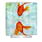 Kissy Fish Shower Curtain