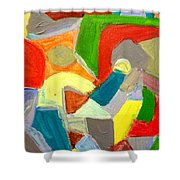 Kissy Road Market - Kissy - Freetown Shower Curtain