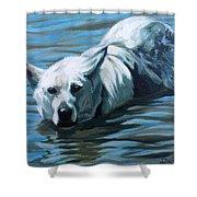 Kita Swimming The Platte Shower Curtain