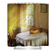 Kitchen - The Empty Basket Shower Curtain by Mike Savad