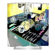 Kitchen Composition Shower Curtain by Eikoni Images