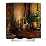 Kitchen - One Fine Evening Shower Curtain by Mike Savad