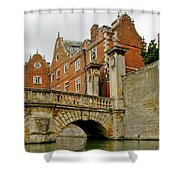 Kitchen Or Wren Bridge And St. Johns College From The Backs. Cambridge. Shower Curtain