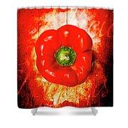 Kitchen Red Pepper Art Shower Curtain